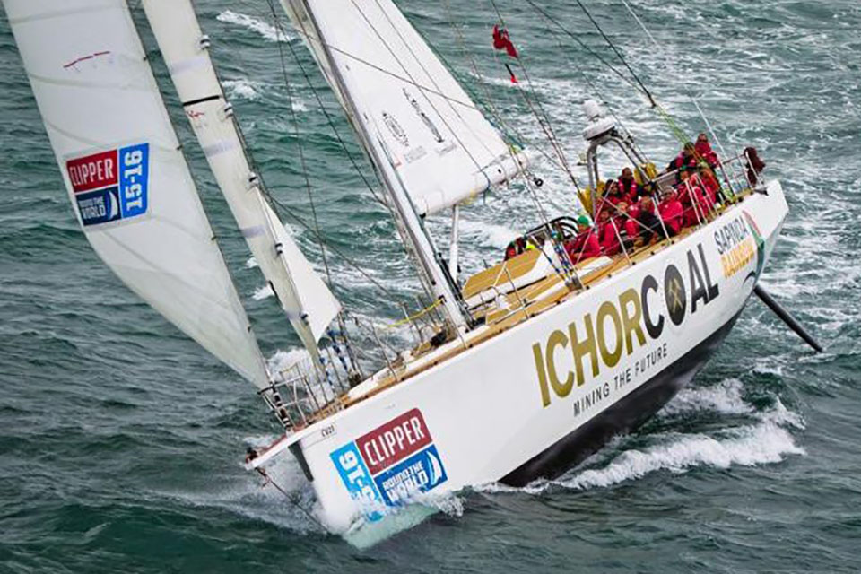 Photograph of the yacht CV21 (image: Clipper Ventures plc)