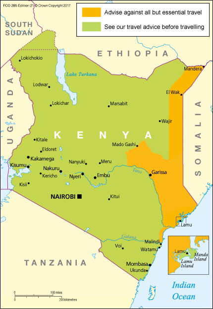 Kenya travel advice gov download map pdf publicscrutiny Gallery