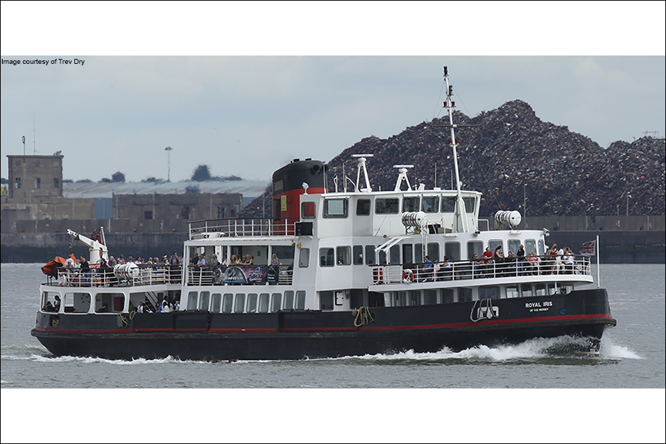 Photograph of the passenger vessel Royal Iris of the Mersey (image: Trev Dry)