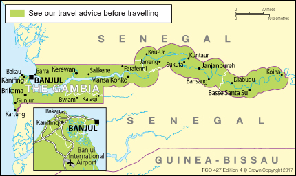Banjul Gambia::PLAN & MAP & COUNTRY