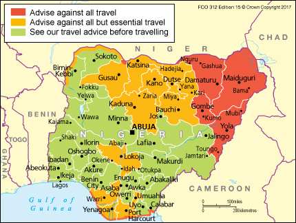 Nigeria travel advice gov download map pdf publicscrutiny Gallery
