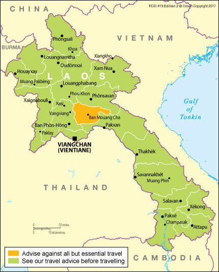 Laos travel advice gov download map pdf publicscrutiny Gallery