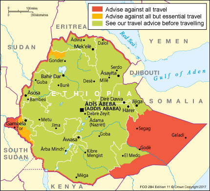 Ethiopia travel advice gov download map pdf publicscrutiny Gallery