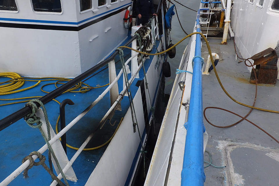 Access to fishing boat Constant Friend via Silver Harvester