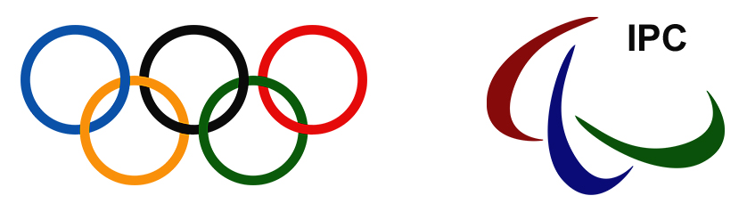 Olympic and paralympic symbols