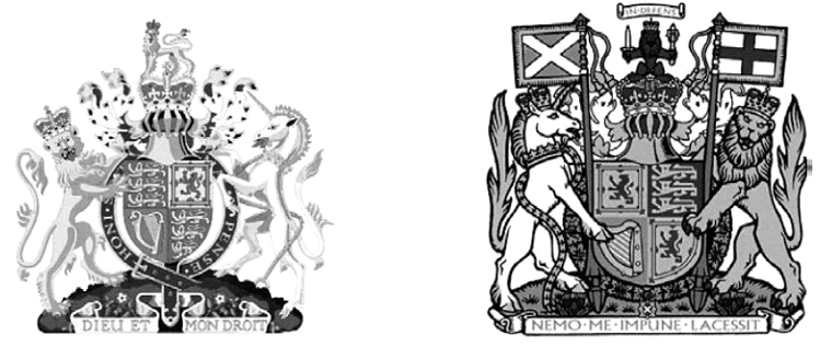 Royal arms and similar emblems (section 4(1)(a))