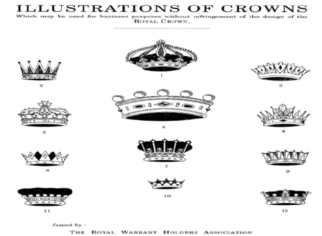 Illustration of crowns