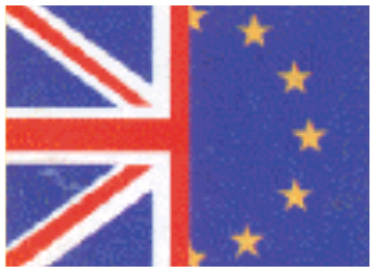 Union Jack and European Union flag - Example 4