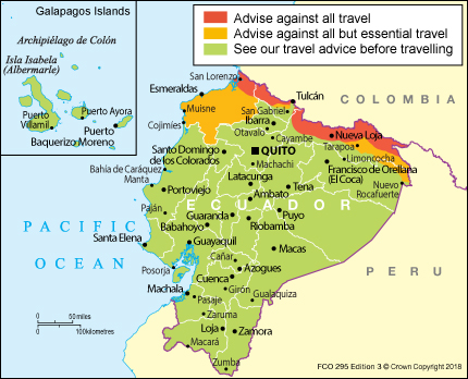 ecuador travel advice gov uk