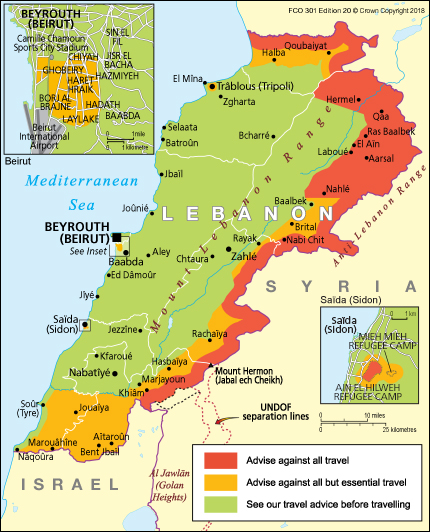 Lebanon travel advice - GOV.UK on map of world, map of eastern caribbean, map of lebanon, map of persian gulf, map of middle east, map of dead sea, map of jerusalem, map of red sea, map of golan heights, map of mediterranean sea, map of mauritius, map of vatican city, map of west bank, map of palestine, map of sea of galilee, map of syria, map of qatar, map of saudi arabia, map of iran, map of holy land,