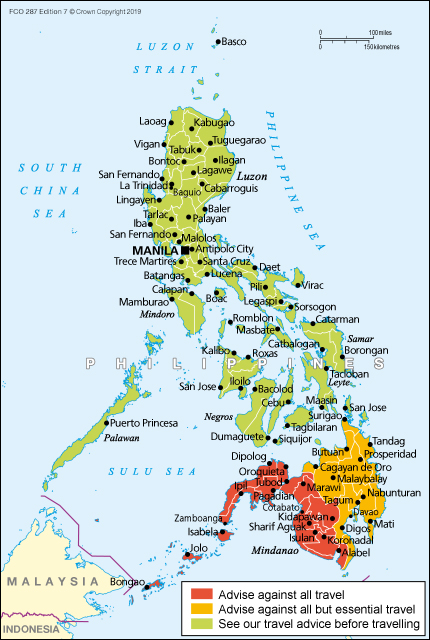Philippines travel advice - GOV UK