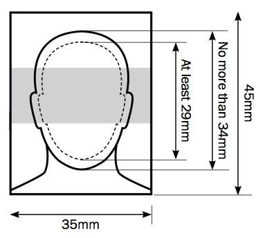 Image result for passport photo dimensions