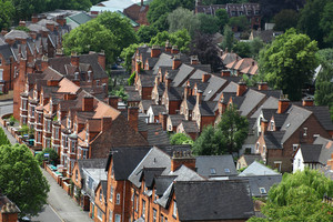 view of housing taken from the air