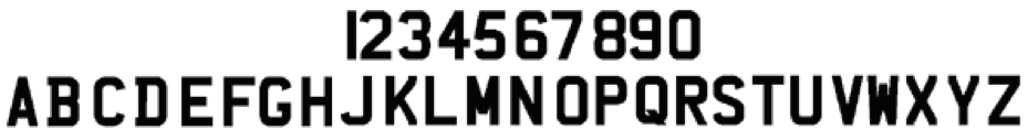 Registration plate characters
