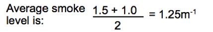 """Calculation for average smoke level"""
