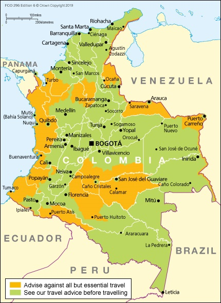 Usa Travel Advice >> Colombia Travel Advice Gov Uk
