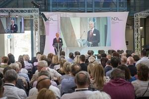 NDA CEO David Peattie addresses delegates at Stakeholder Summit 2018