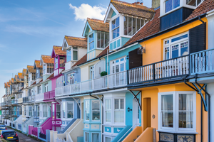 Colourful houses in Whitstable.