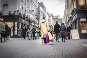 photo of a busy UK high street