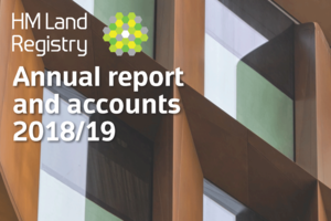 Cover of the Annual report and accounts 2018/19 showing the title 'Transforming together'.
