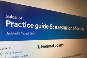 Screenshot of Practice guide 8: execution of deeds