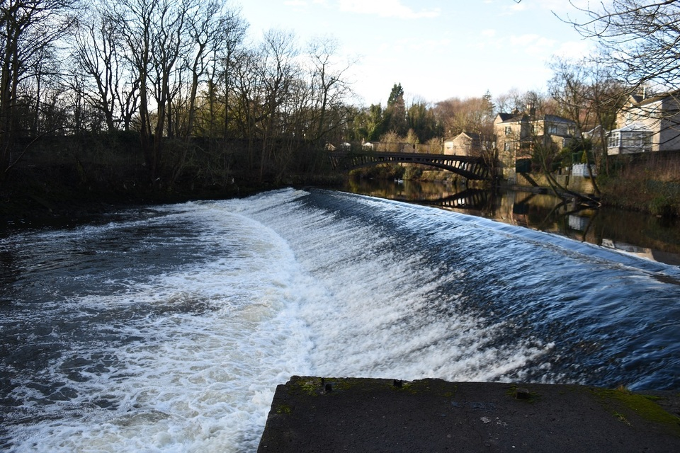 Newlay Weir on the River Aire