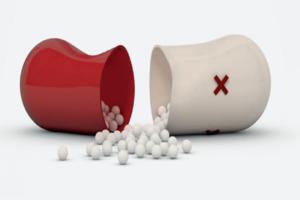 A close up view of antibiotics.