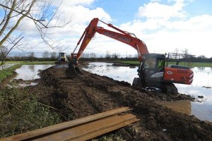 Flood recovery diggers