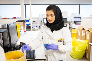 Lab technician in NHS hospital