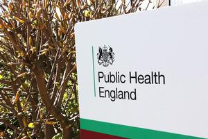 Public Health England (PHE) sign