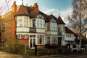 Edwardian houses in Church End, Finchley Central, Barnet, London, UK.