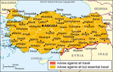 Turkey Travel Advice Gov Uk