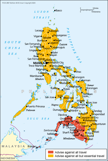 Philippines Travel Advice Gov Uk