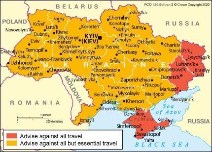 Ukraine Travel Advice Gov Uk