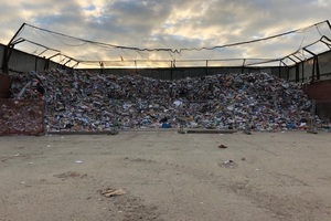 Piles of waste at a permitted waste site in the Midlands