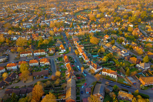 housing aerial view