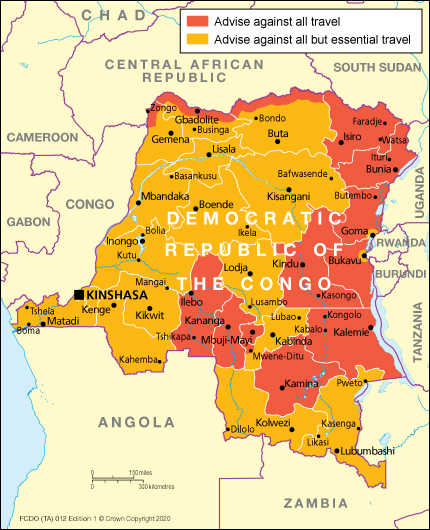 Entry Requirements Democratic Republic Of The Congo Travel Advice Gov Uk