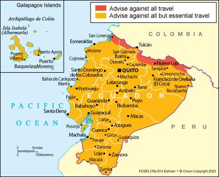 Ecuador Travel Advice Gov Uk