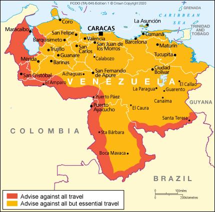 Venezuela Travel Advice Gov Uk