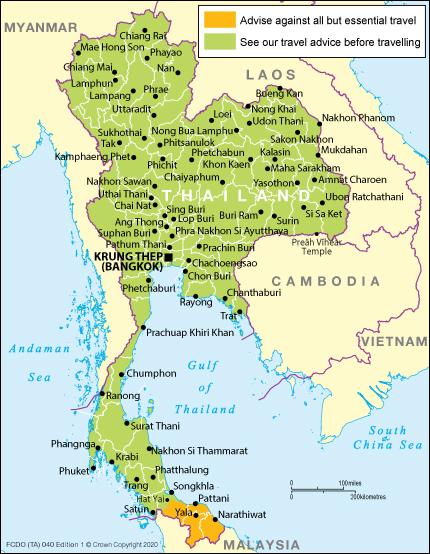 Thailand Travel Advice Gov Uk