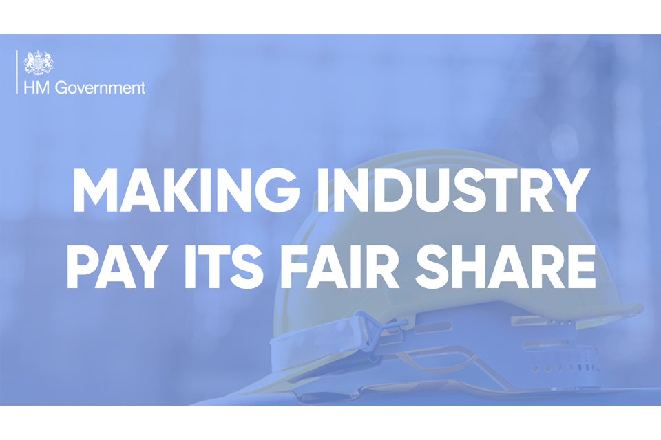 Making industry pay its fair share